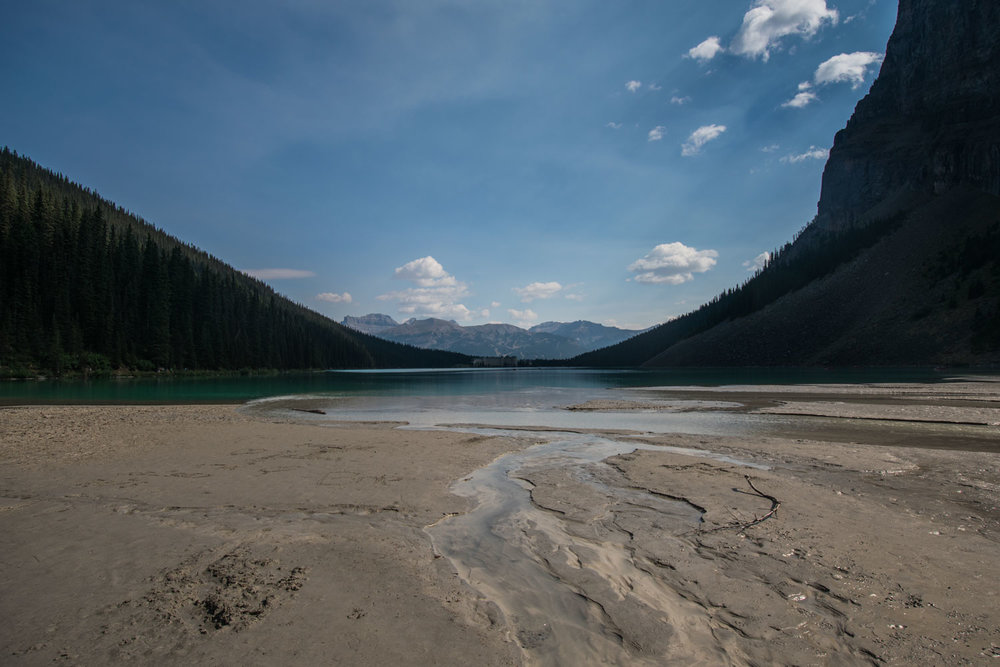 View of Lake Louise from behine