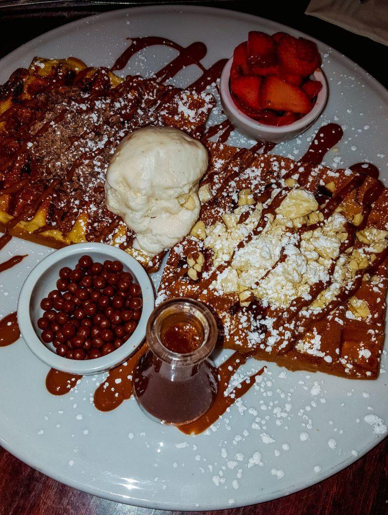 Chocolate chunks waffle