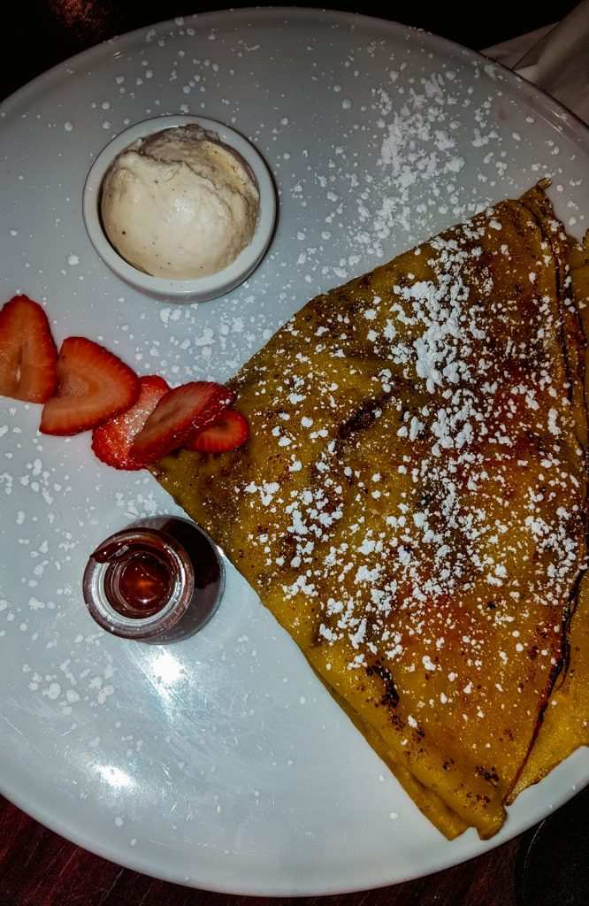 Strawberry hazelnut crepe