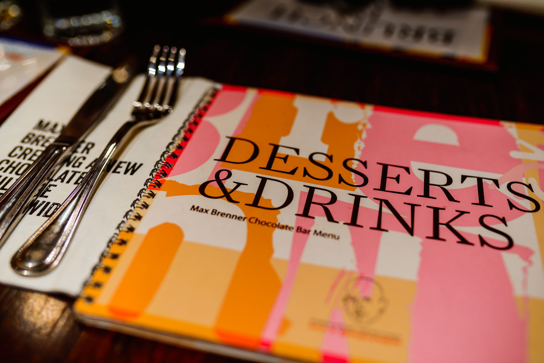 Max Brenner menu