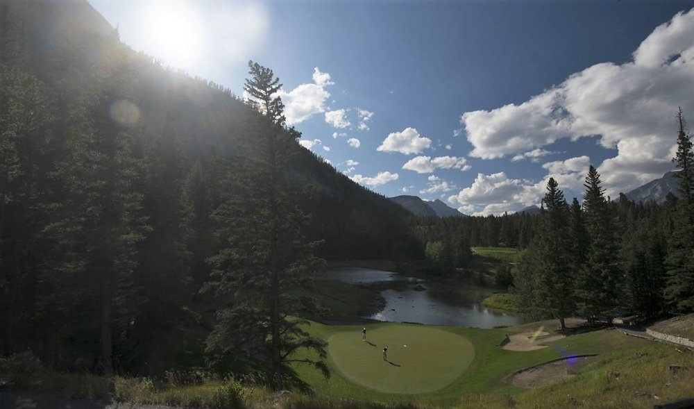 Golf course in Banff