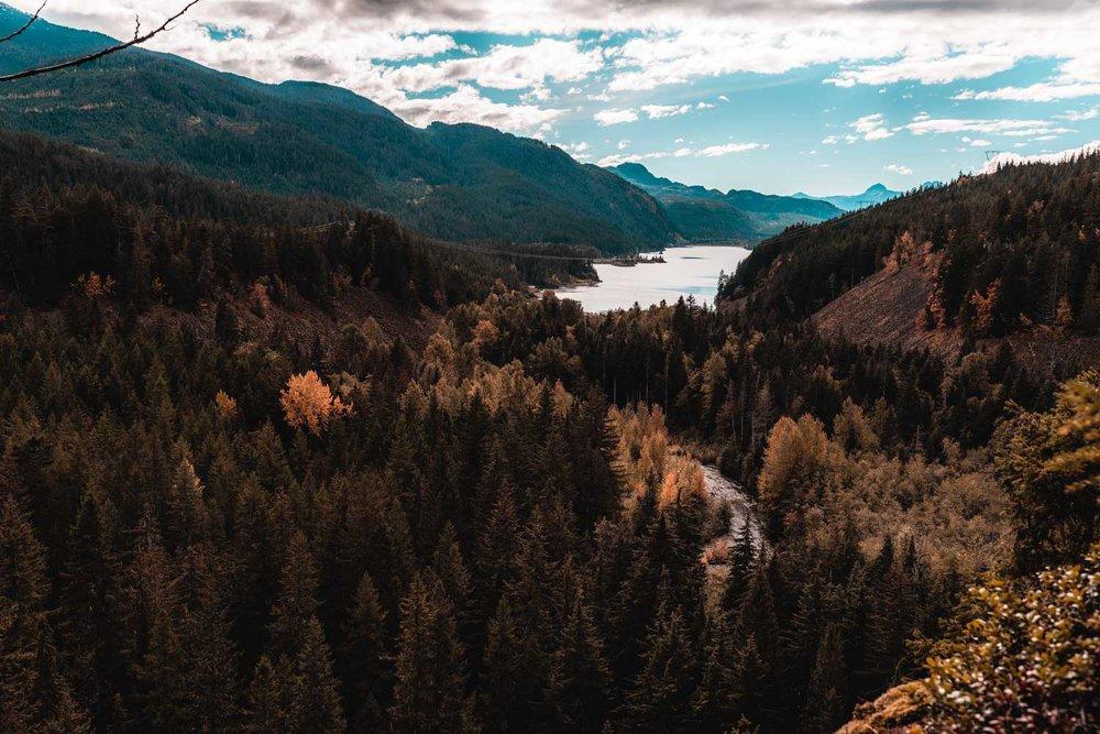 Brandywine Falls lookout