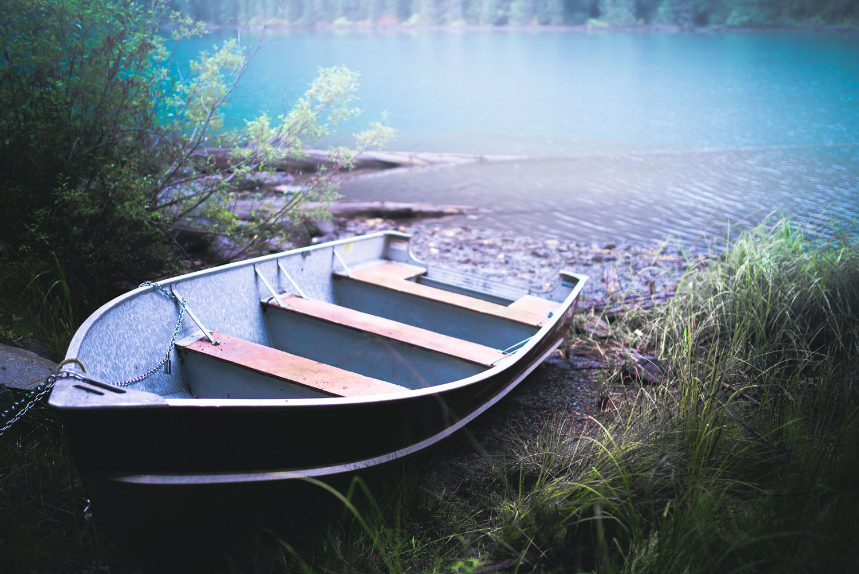 Boat in Cheakamus Lake Trail