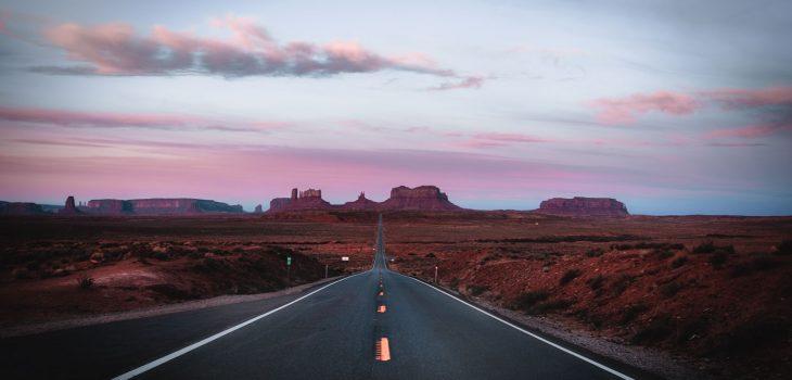 Forrest Gump Road in Utah