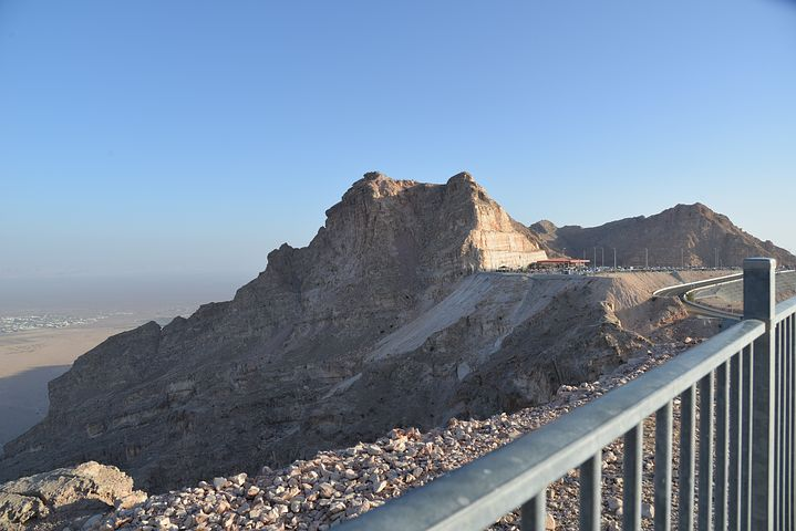 View from halfway up Jebel Hafeet