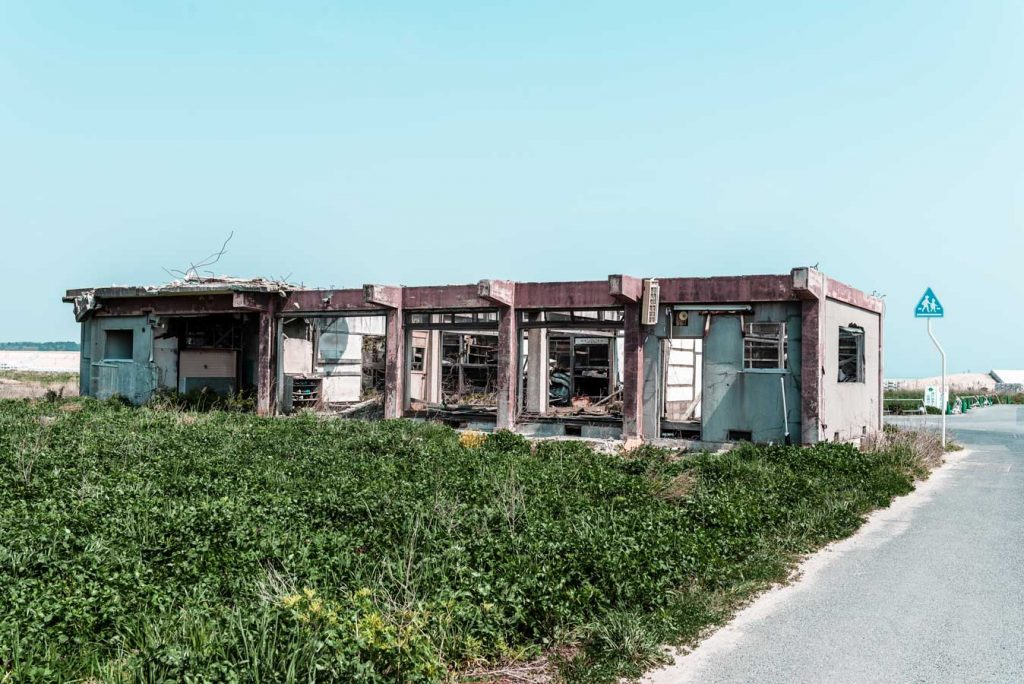 Dismantled school left after the 2011 earthquake in Fukushima