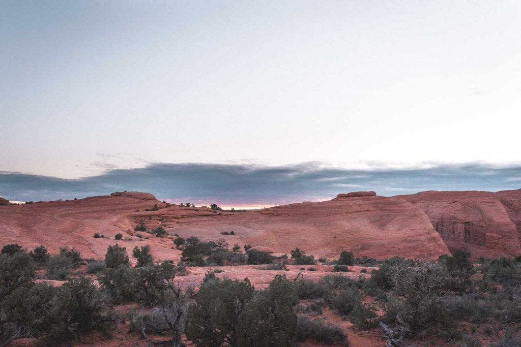 Arches National Park during sunrise