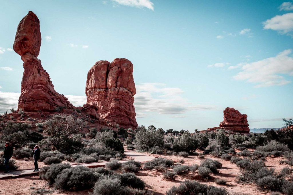 Buttes in Arches National Park
