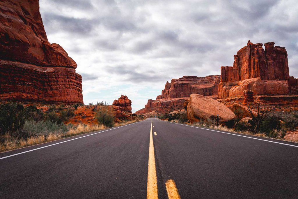 Road in Arches National Park
