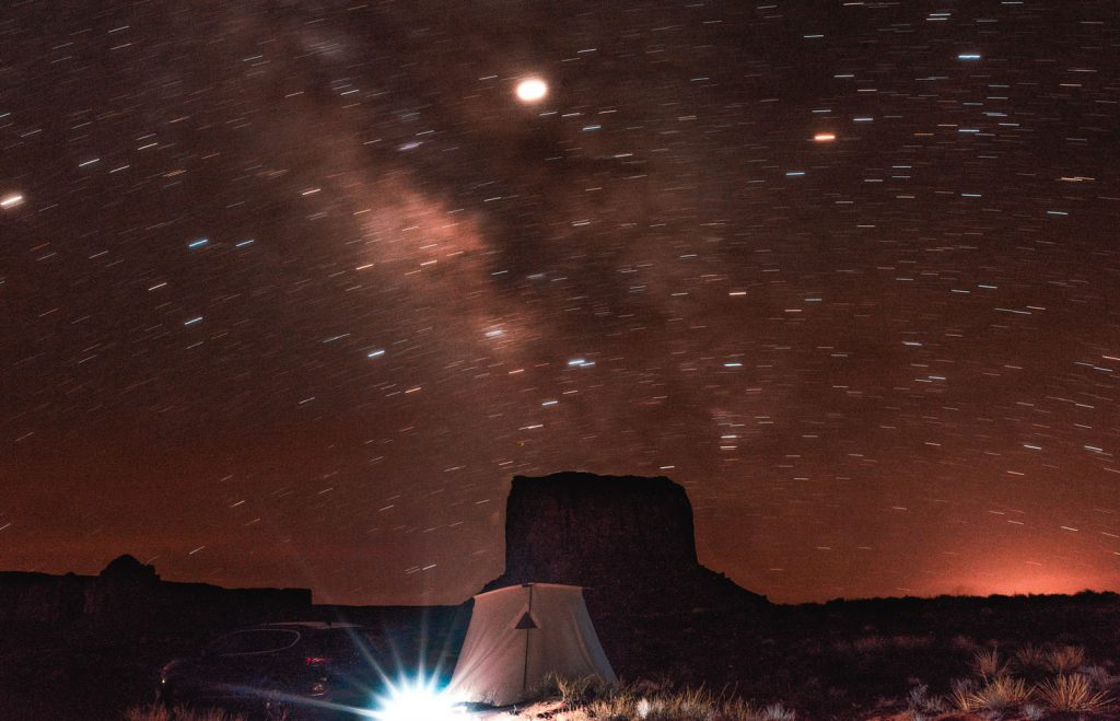 The Milky Way in Monument Valley